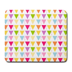 Bunting Triangle Color Rainbow Large Mousepads by Mariart