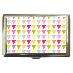 Bunting Triangle Color Rainbow Cigarette Money Cases by Mariart