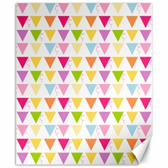 Bunting Triangle Color Rainbow Canvas 8  X 10  by Mariart
