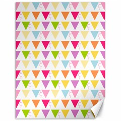 Bunting Triangle Color Rainbow Canvas 18  X 24   by Mariart