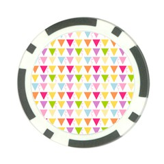 Bunting Triangle Color Rainbow Poker Chip Card Guard by Mariart