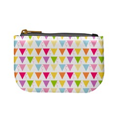 Bunting Triangle Color Rainbow Mini Coin Purses by Mariart