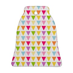 Bunting Triangle Color Rainbow Bell Ornament (two Sides) by Mariart
