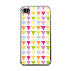Bunting Triangle Color Rainbow Apple Iphone 4 Case (clear) by Mariart
