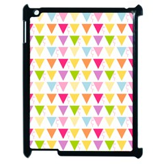 Bunting Triangle Color Rainbow Apple Ipad 2 Case (black) by Mariart