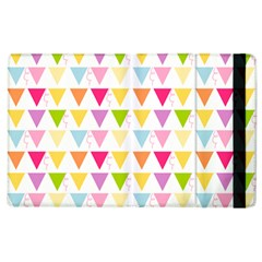 Bunting Triangle Color Rainbow Apple Ipad 2 Flip Case by Mariart