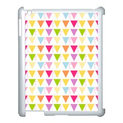 Bunting Triangle Color Rainbow Apple Ipad 3/4 Case (white) by Mariart