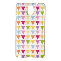 Bunting Triangle Color Rainbow Samsung Galaxy Note 3 N9005 Hardshell Case by Mariart