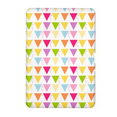 Bunting Triangle Color Rainbow Samsung Galaxy Tab 2 (10 1 ) P5100 Hardshell Case  by Mariart