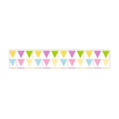 Bunting Triangle Color Rainbow Flano Scarf (mini) by Mariart