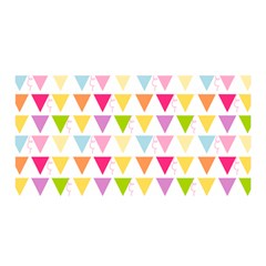 Bunting Triangle Color Rainbow Satin Wrap by Mariart