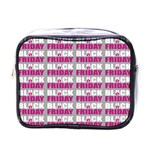 Black Friday Sale White Pink Disc Mini Toiletries Bags Front