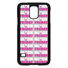 Black Friday Sale White Pink Disc Samsung Galaxy S5 Case (black) by Mariart