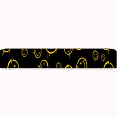 Face Smile Bored Mask Yellow Black Small Bar Mats by Mariart