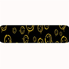 Face Smile Bored Mask Yellow Black Large Bar Mats by Mariart