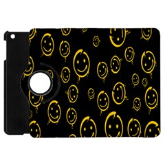 Face Smile Bored Mask Yellow Black Apple Ipad Mini Flip 360 Case by Mariart