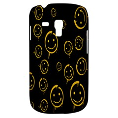 Face Smile Bored Mask Yellow Black Galaxy S3 Mini by Mariart
