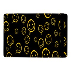 Face Smile Bored Mask Yellow Black Samsung Galaxy Tab Pro 10 1  Flip Case by Mariart