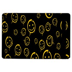 Face Smile Bored Mask Yellow Black Ipad Air 2 Flip by Mariart