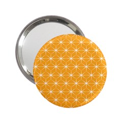 Yellow Stars Iso Line White 2 25  Handbag Mirrors