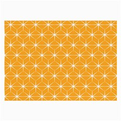 Yellow Stars Iso Line White Large Glasses Cloth by Mariart
