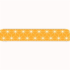 Yellow Stars Iso Line White Small Bar Mats by Mariart