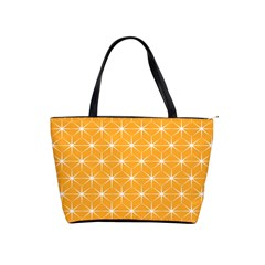 Yellow Stars Iso Line White Shoulder Handbags by Mariart