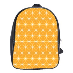 Yellow Stars Iso Line White School Bags(large)