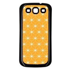 Yellow Stars Iso Line White Samsung Galaxy S3 Back Case (black) by Mariart
