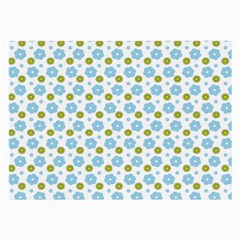 Blue Yellow Star Sunflower Flower Floral Large Glasses Cloth (2 Side) by Mariart