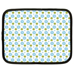 Blue Yellow Star Sunflower Flower Floral Netbook Case (xxl)  by Mariart