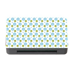 Blue Yellow Star Sunflower Flower Floral Memory Card Reader With Cf by Mariart