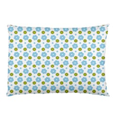 Blue Yellow Star Sunflower Flower Floral Pillow Case (two Sides) by Mariart