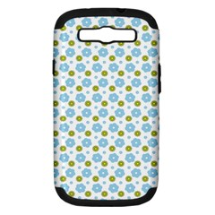 Blue Yellow Star Sunflower Flower Floral Samsung Galaxy S Iii Hardshell Case (pc+silicone)