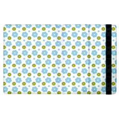 Blue Yellow Star Sunflower Flower Floral Apple Ipad 2 Flip Case by Mariart
