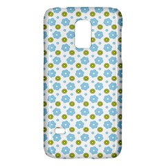 Blue Yellow Star Sunflower Flower Floral Galaxy S5 Mini by Mariart