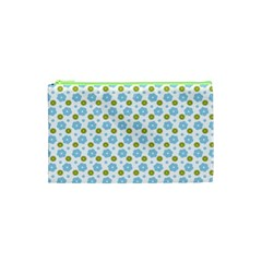 Blue Yellow Star Sunflower Flower Floral Cosmetic Bag (xs) by Mariart