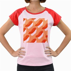Fish Eat Japanese Sushi Women s Cap Sleeve T Shirt by Mariart