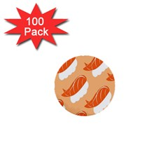 Fish Eat Japanese Sushi 1  Mini Buttons (100 Pack)  by Mariart