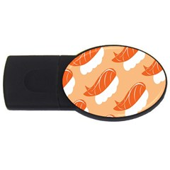 Fish Eat Japanese Sushi Usb Flash Drive Oval (4 Gb) by Mariart