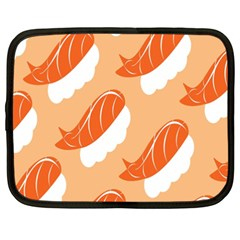 Fish Eat Japanese Sushi Netbook Case (xxl)  by Mariart