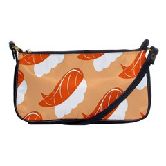 Fish Eat Japanese Sushi Shoulder Clutch Bags by Mariart