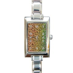 Crystals Rainbow Rectangle Italian Charm Watch by Mariart