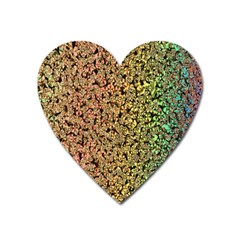 Crystals Rainbow Heart Magnet by Mariart