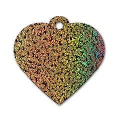 Crystals Rainbow Dog Tag Heart (one Side) by Mariart