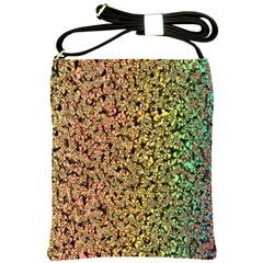 Crystals Rainbow Shoulder Sling Bags by Mariart
