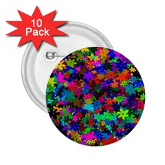 Flowersfloral Star Rainbow 2 25  Buttons (10 Pack)