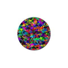 Flowersfloral Star Rainbow Golf Ball Marker by Mariart
