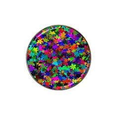 Flowersfloral Star Rainbow Hat Clip Ball Marker by Mariart