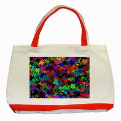 Flowersfloral Star Rainbow Classic Tote Bag (red) by Mariart